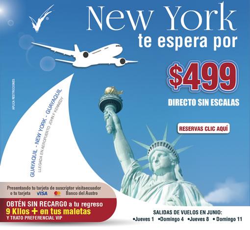 Visitaecuador el portal oficializado de turismo de for New york alloggio economico